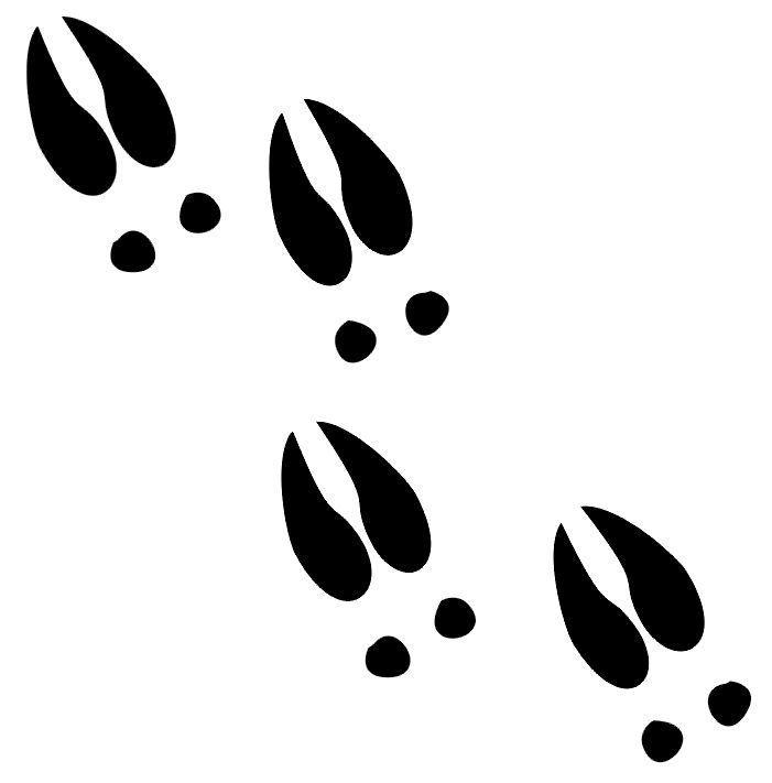 Reindeer Footprints Coloring Pages