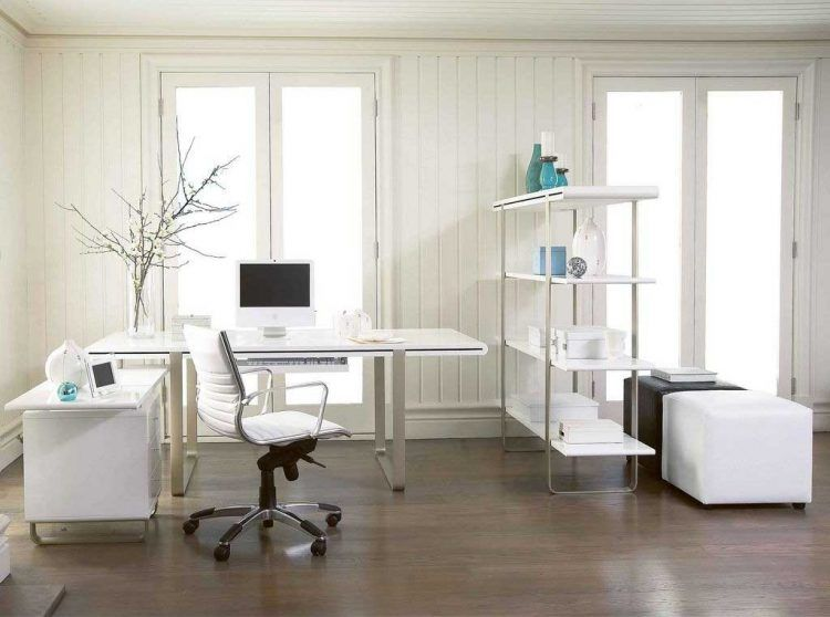 Genial 20 Beautiful White Desk Designs For Your Office. Modern Home ...