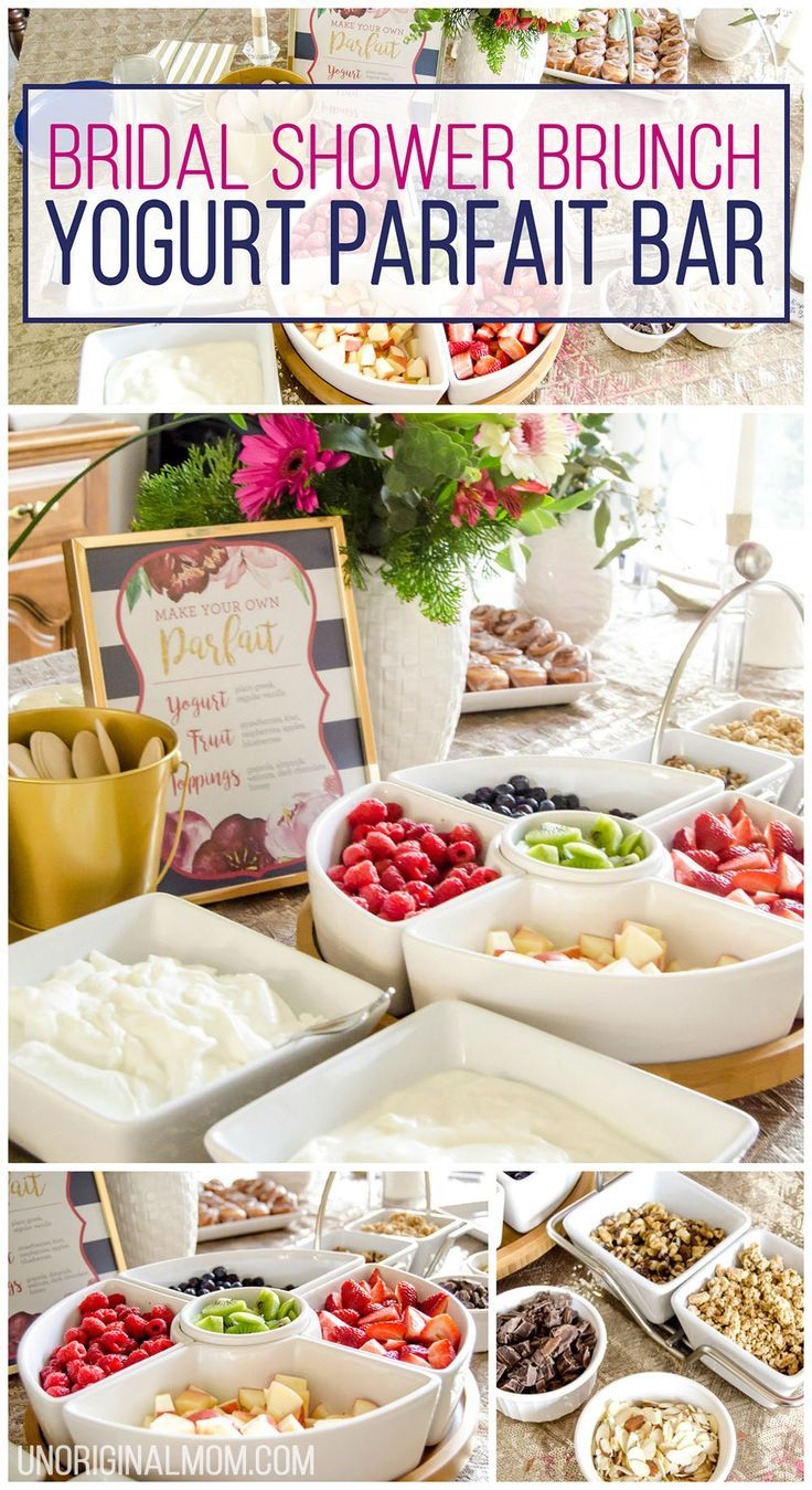 i love this super easy shower brunch idea a yogurt parfait bar brunch food ideas bridal shower brunch food baby shower brunch food yogurt parfait
