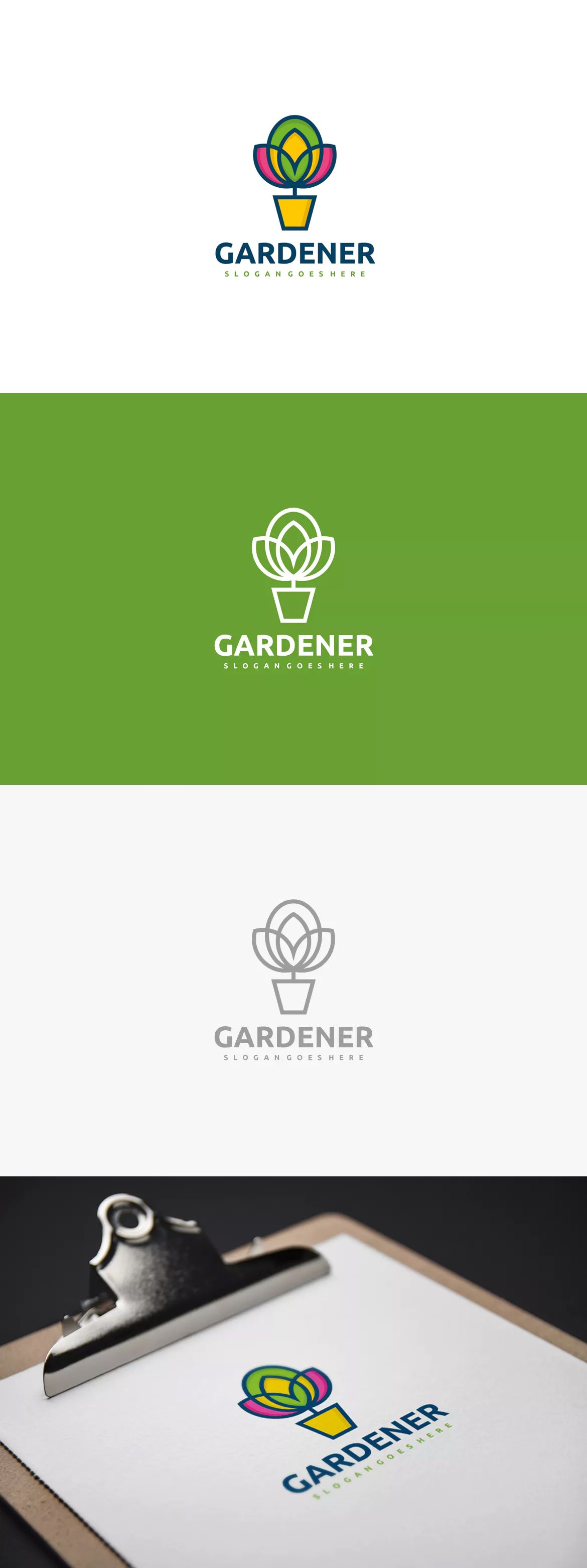Gardener Logo Template Ai Eps Unlimiteddownloads Logo Templates Logos Envato