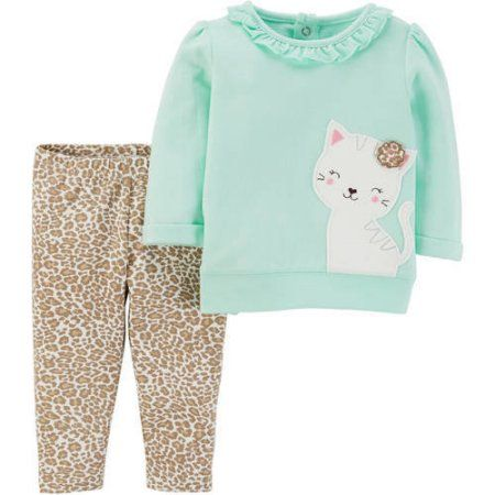 481b91d7c Child of Mine by Carter s Baby Girl Long Sleeve Shirt and Pant Set ...
