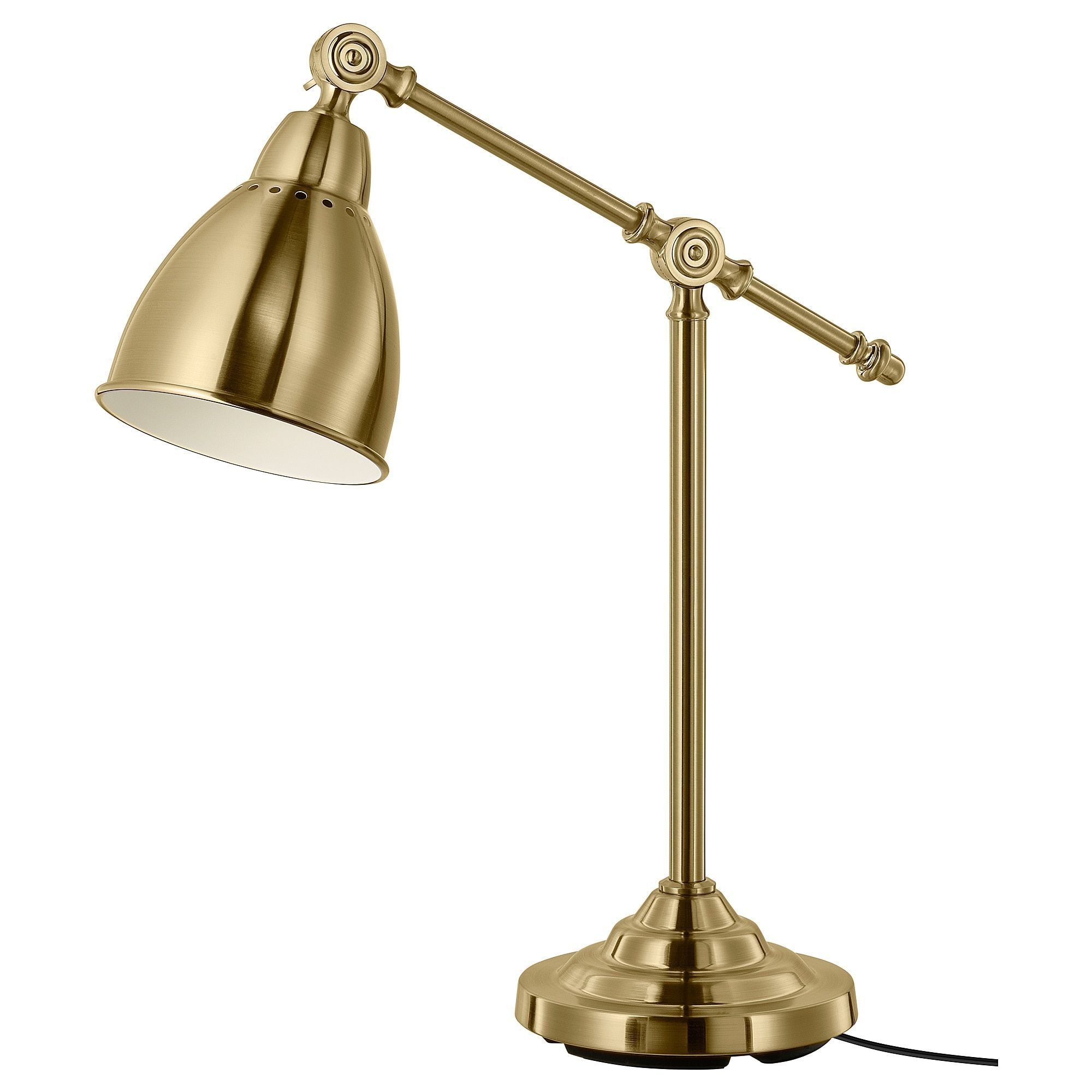Ikea Barometer Brass Color Work Lamp With Led Bulb Avec Images