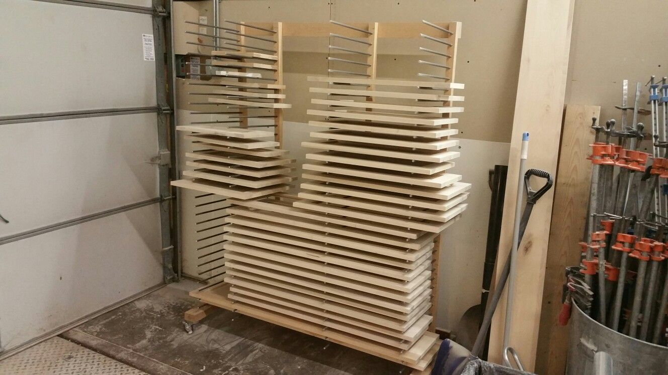 Drying Rack For Cabinet Doors