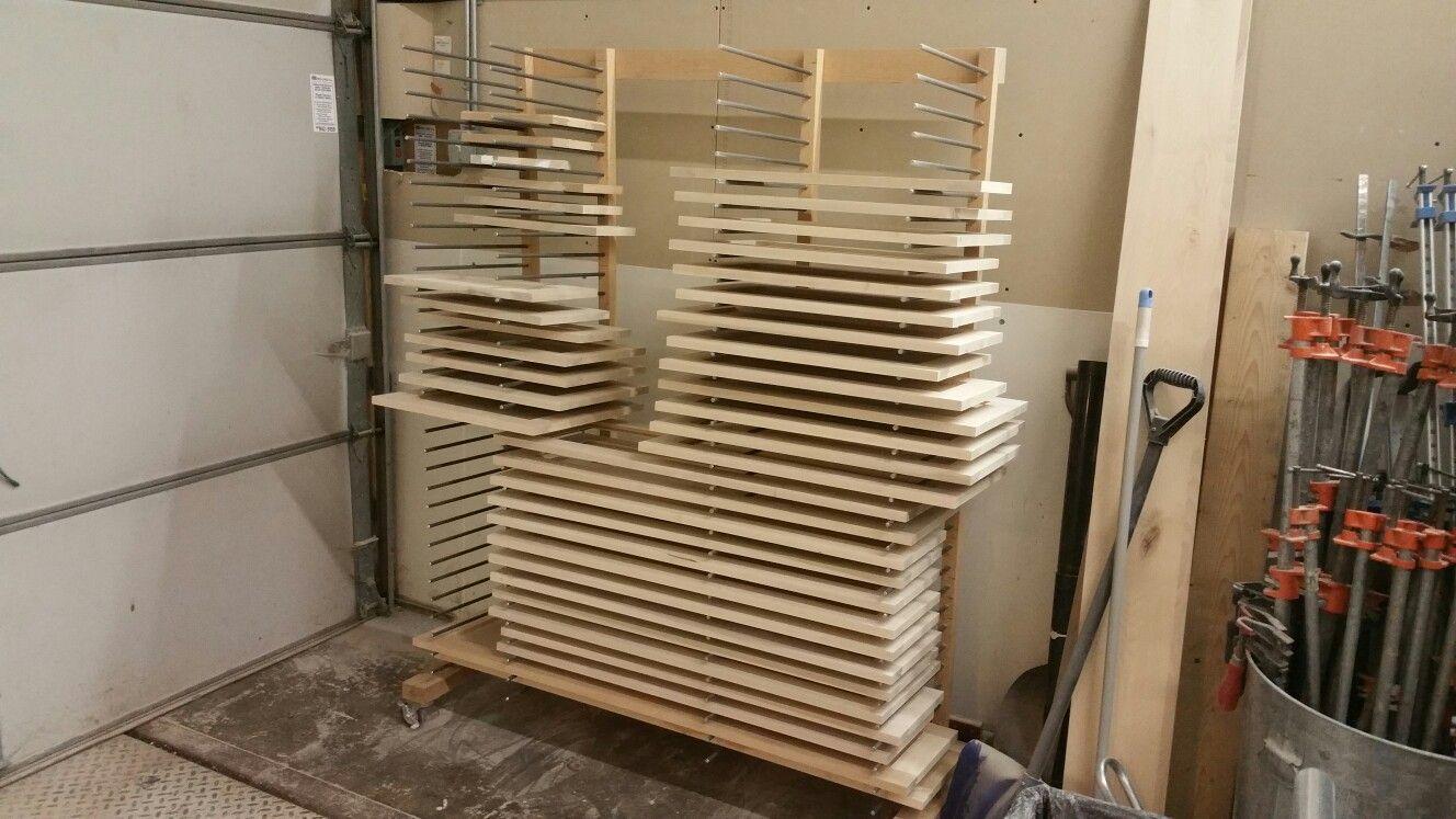 drying rack for cabinet doors diy