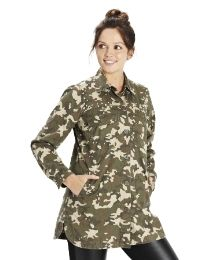Camouflage Print Military Shirt at Simply Be