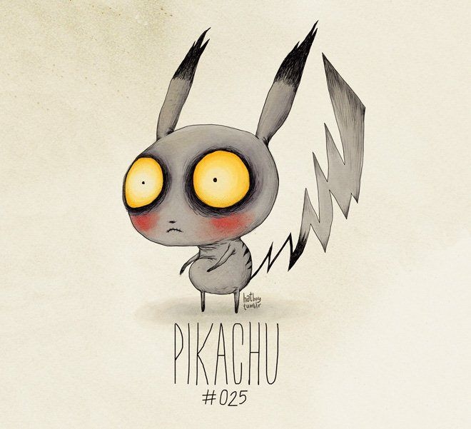 If Pokémon Were Created by Tim Burton by  Vaughn Pinpin
