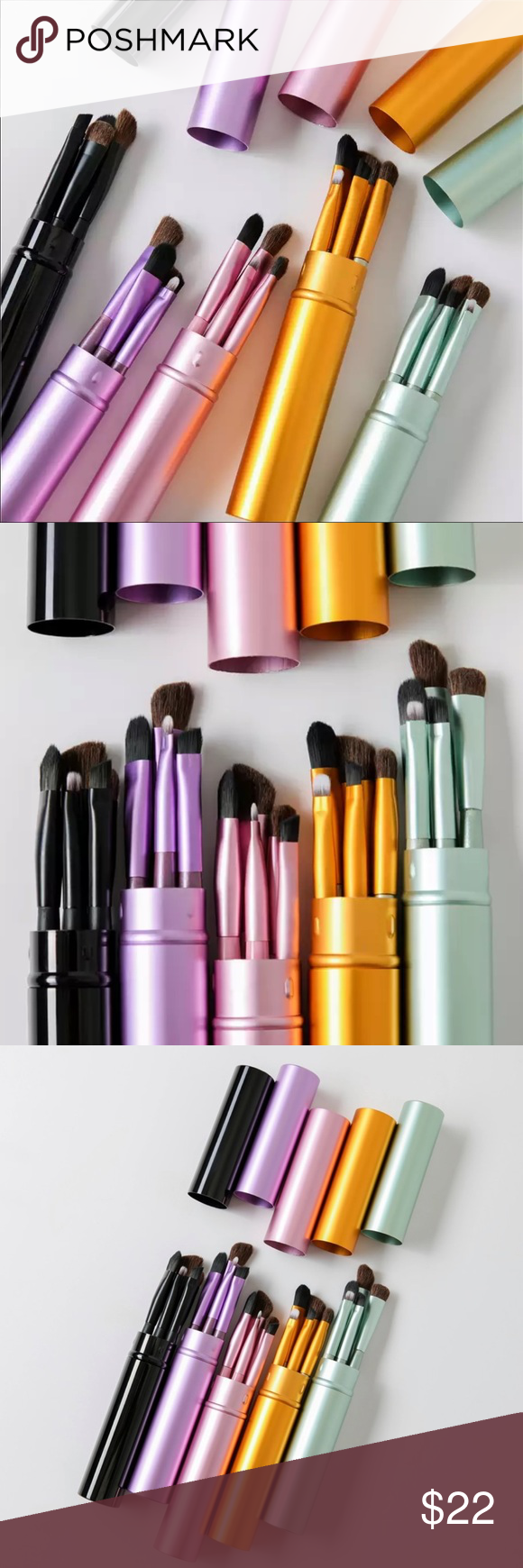 Photo of 5 pcs Makeup Travel Set Professional Make-up Travel Set 5 pcs  Handle Material i…
