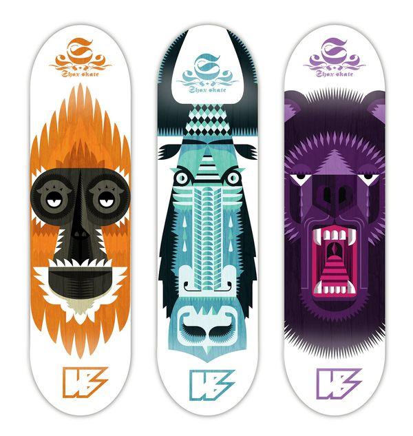 Skateboard Uses: Symmetry. Use California Animals. SKATEBOARD DESIGN By Sam
