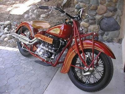 1936 Indian Upside Down Four Burgundy Pictures Indian Motorcycle Classic Motorcycles Cool Motorcycles