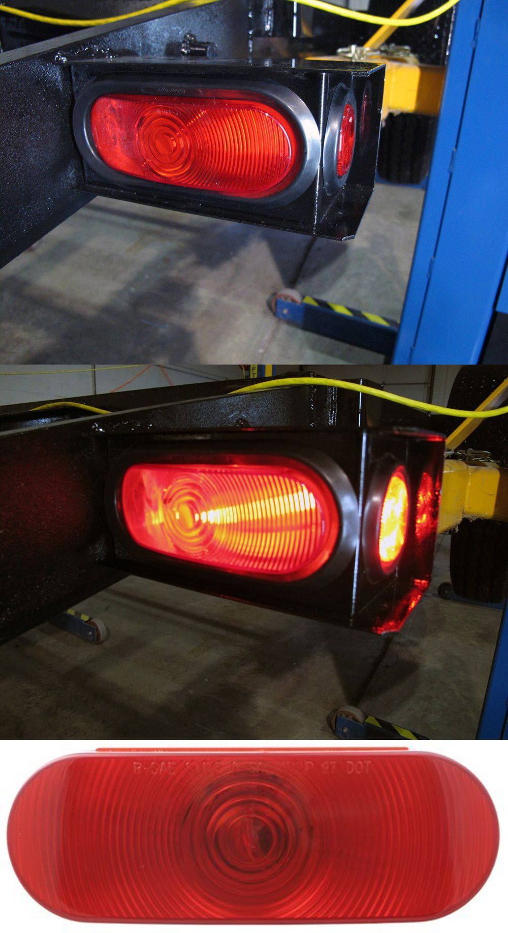 "These sealed 6-1/2"" Oval Trailer Tail Light are essential accessories for  trailers. They are waterproof, shockproof, with 1 incandescent bulb."