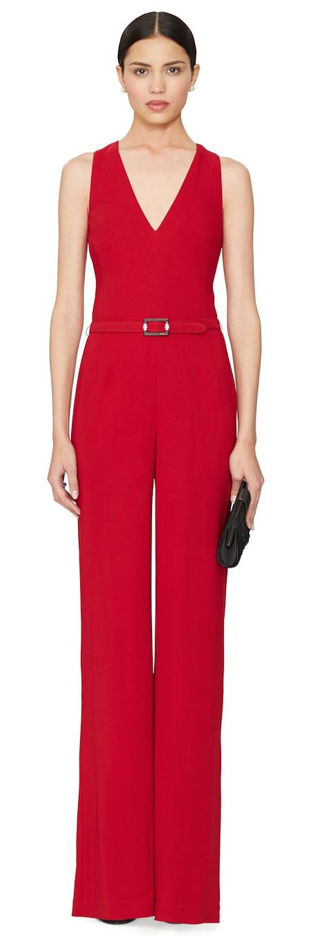 Ralph Lauren Black Label Belted Charisse Jumpsuit Radiant Reds