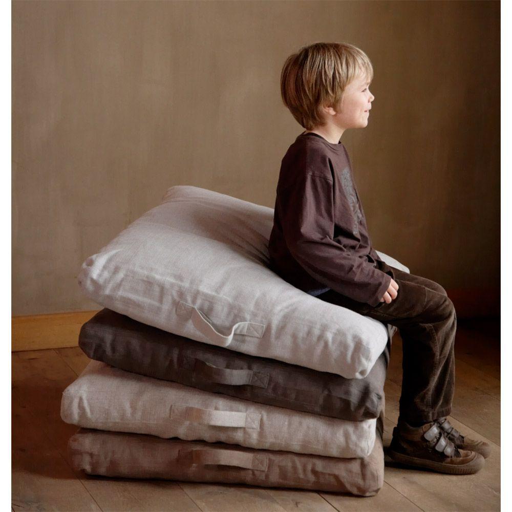 coussin de sol en lin napoli vintage pe 1012. Black Bedroom Furniture Sets. Home Design Ideas