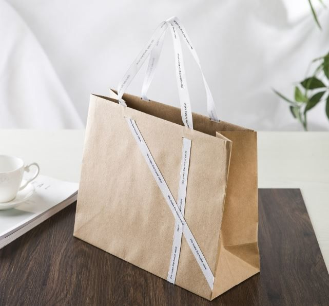 Yellow Craft Paper Bag Special Paper Bag Design Shopping Bag