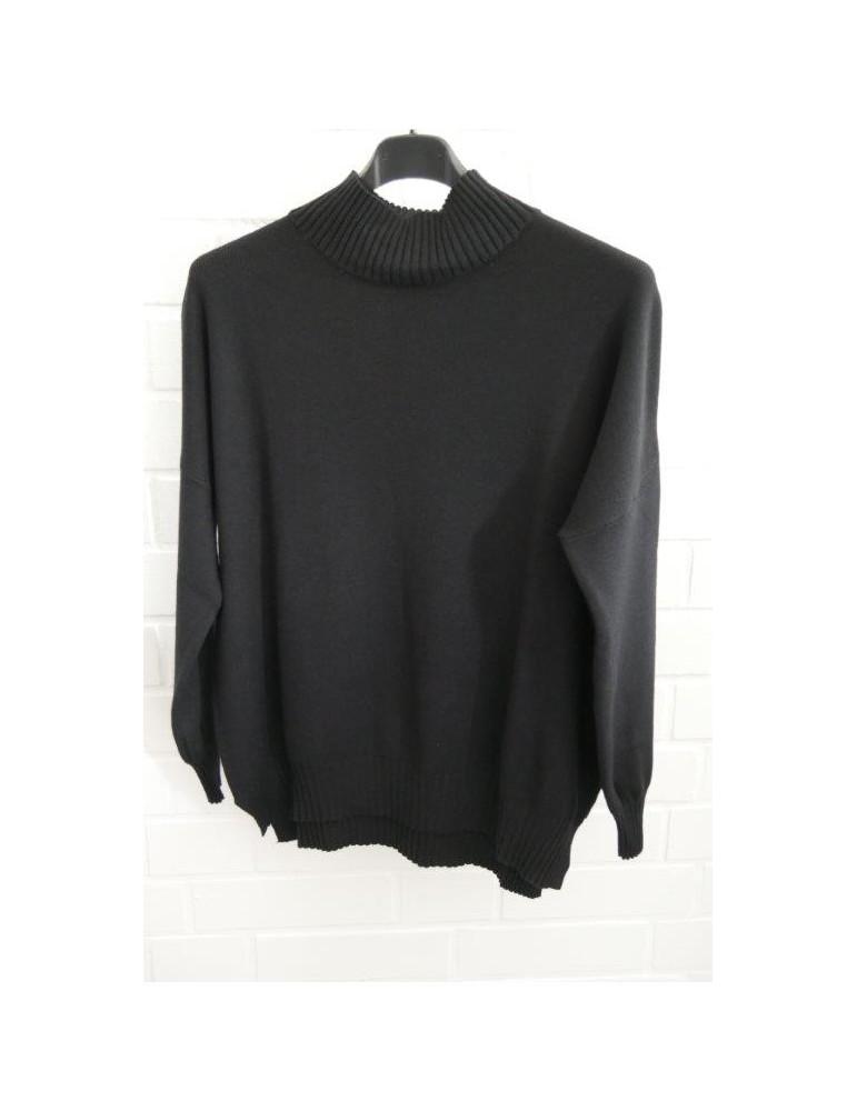 Onesize black Pullover Damen Strick schwarz ESViViD ca38 shdtQrC