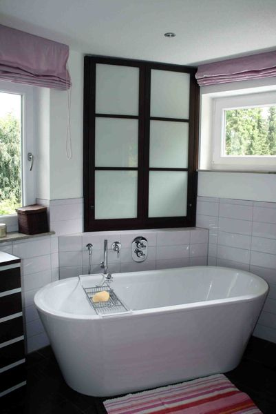 Einbauschrank Eckeinbau Glastüren Buche Gebeizt Freistehende - Badezimmer einbauschrank