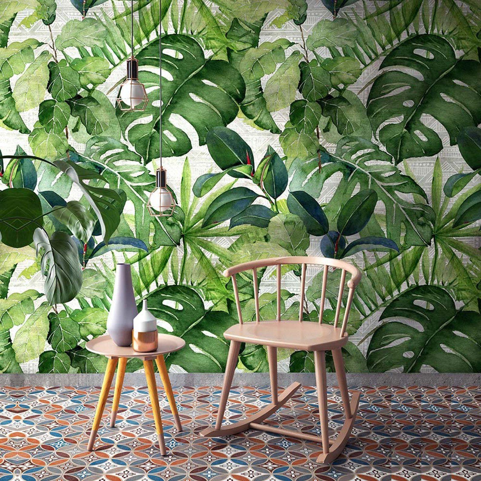 "CP0261 ""Wallpaper Jungle leaves"" Adhesive Wallpaper"