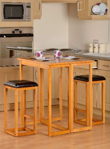 breakfast bar table chairs 3 piece space saving kitchen dining