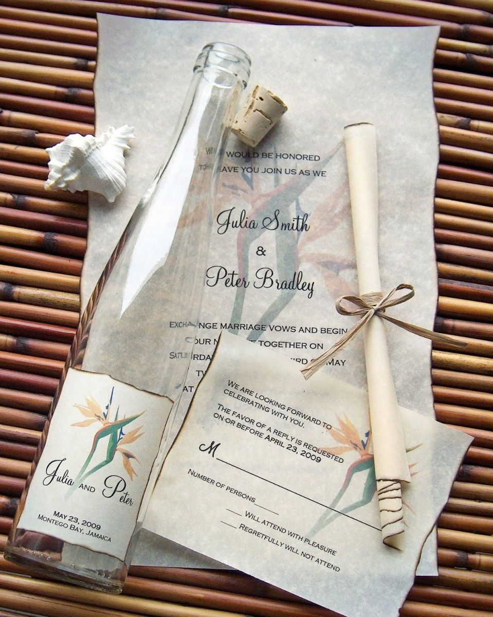 Send out your wedding invitations in a bottle! #coastalwedding ...