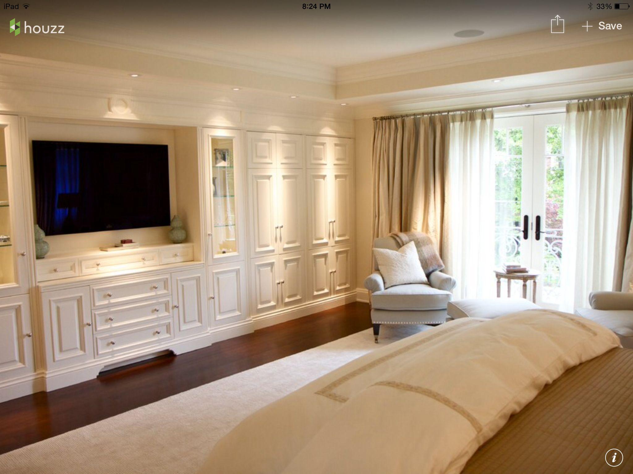 Master Builtin | Bedroom wall units, Bedroom built ins ...