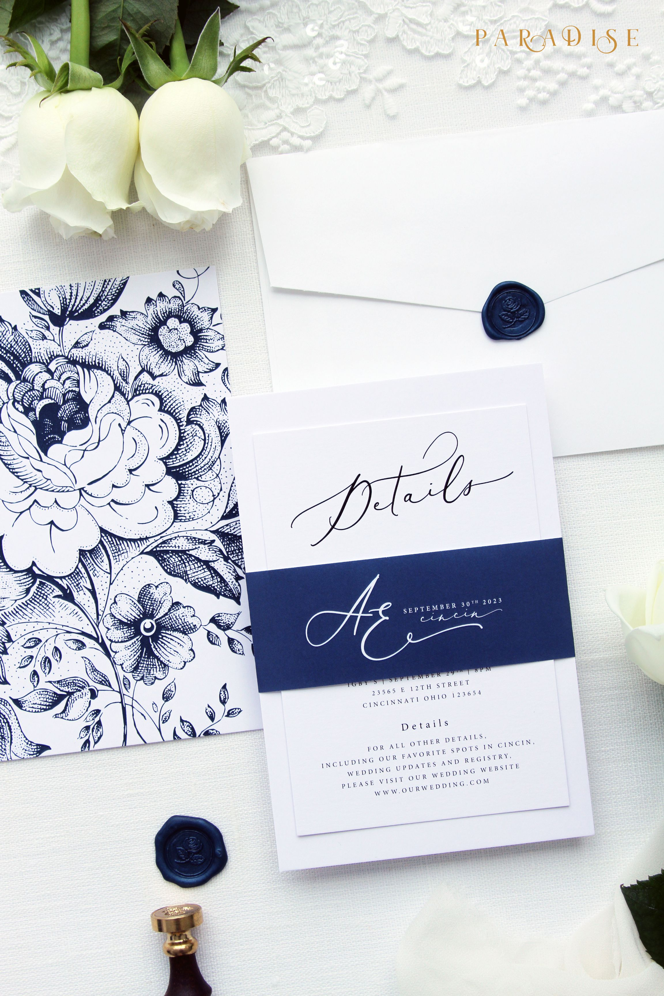 Adlin Elegant Wedding Invitation Sets Modern Invitation Kits