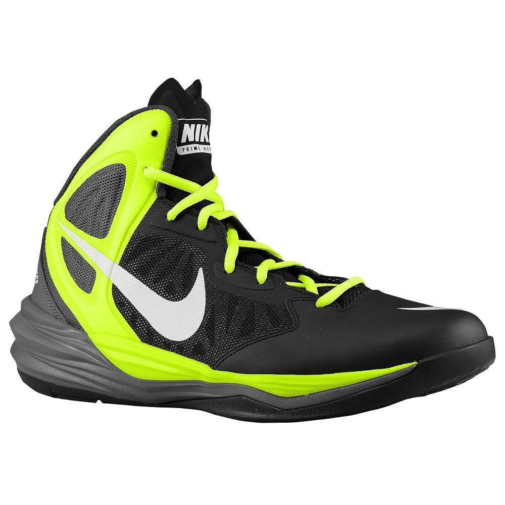 Nike mens shoes prime hype df high top basketball black white volt size 13  NEW 49.99
