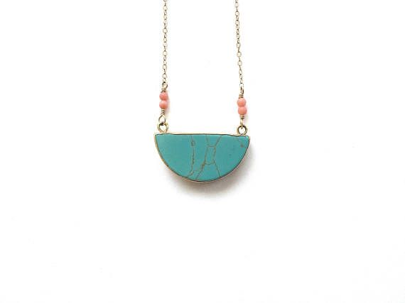 b4e5b14c427 Half Moon Necklace Turquoise Half Moon Necklace Turquoise ...