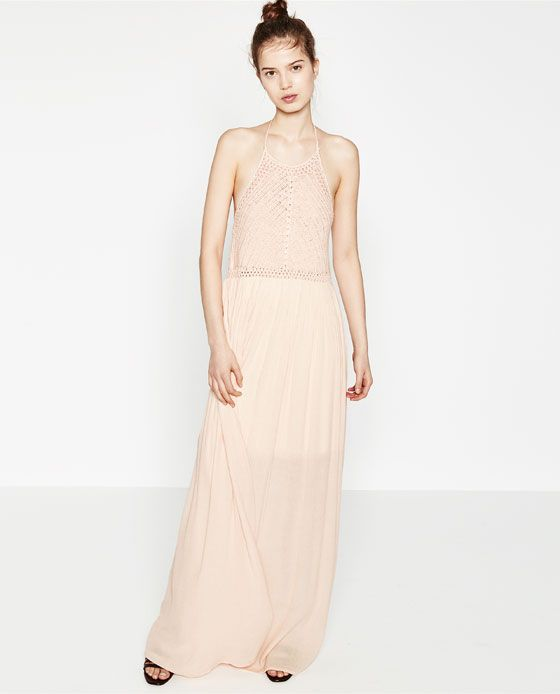 Robe rose longue zara