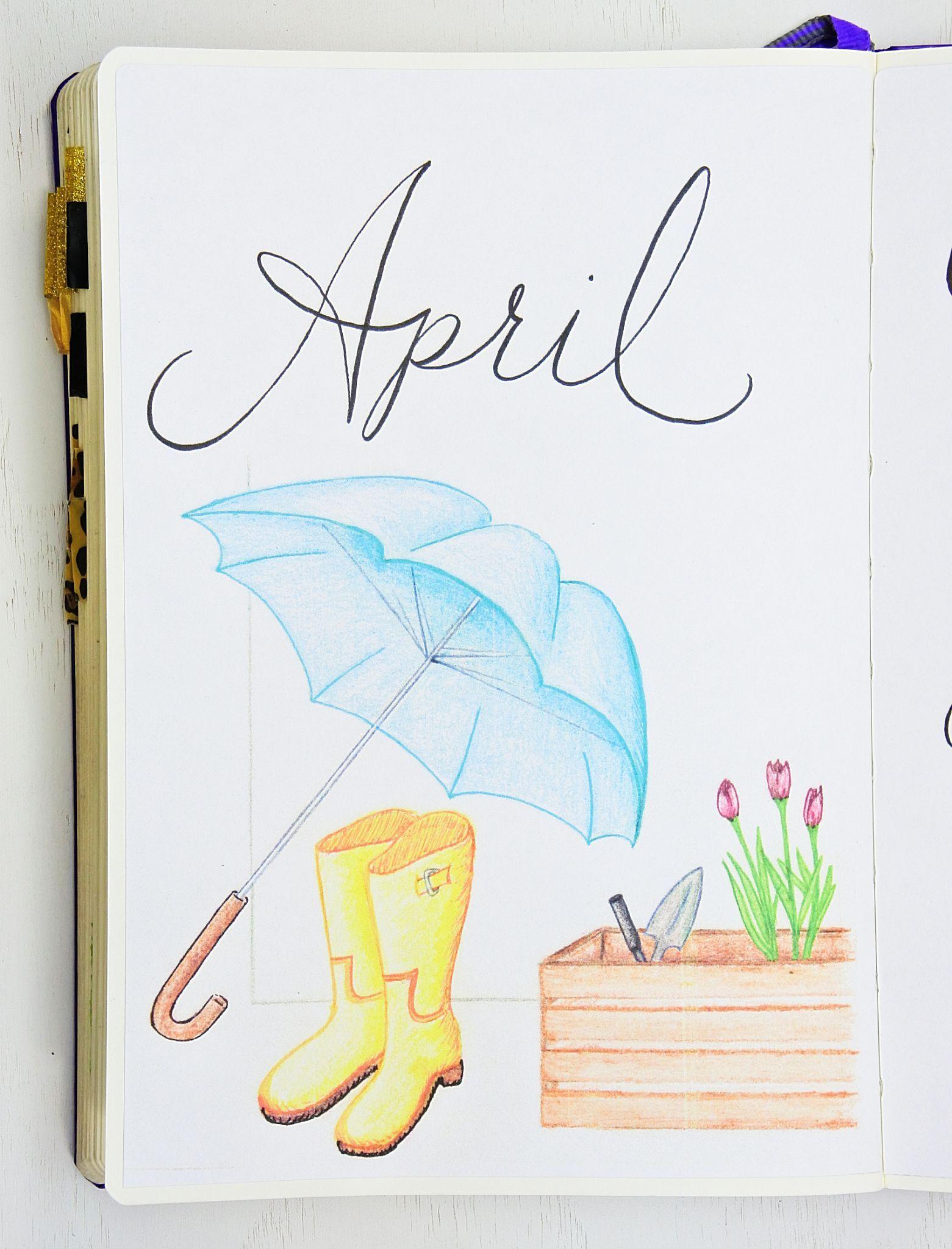 April Setup With 6 Free Printables