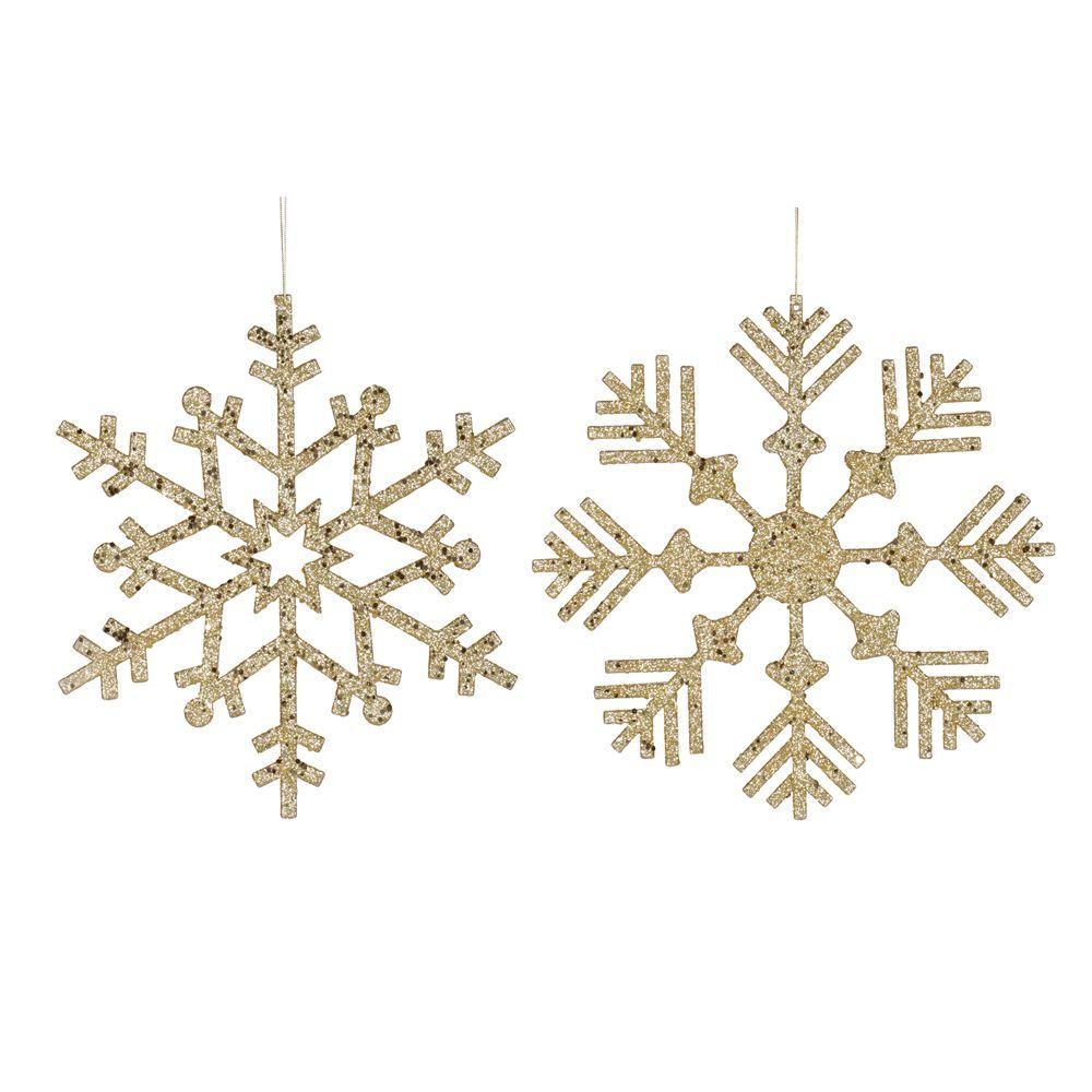 Vickerman Glitter Snowflake 32-inch Assorted Ornaments