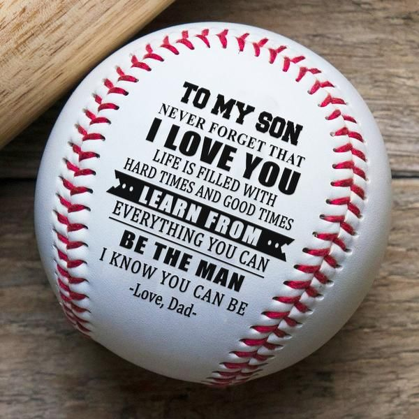 Download (BB48) Baseball Vector - Dad to son - I love you. FREE ...