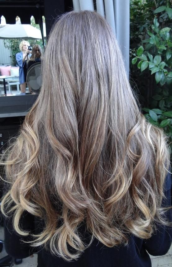 Medium Brunette With Golden Highlights Ash Blonde Hair Colour