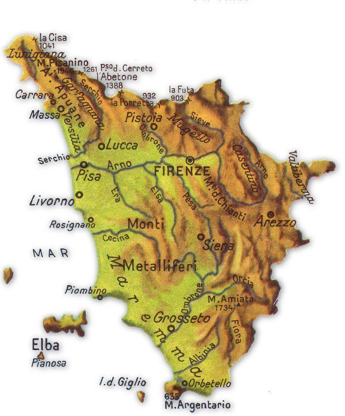 Immagini Cartina Toscana.Cartina Geografica Della Toscana