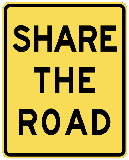 Share The Road Road Signs Clip Art Three Words