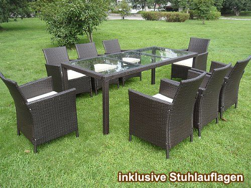 poly rattan 17tlg polyrattan sitzgarnitur gartenm belset gartengarnitur essgruppe gartenset. Black Bedroom Furniture Sets. Home Design Ideas