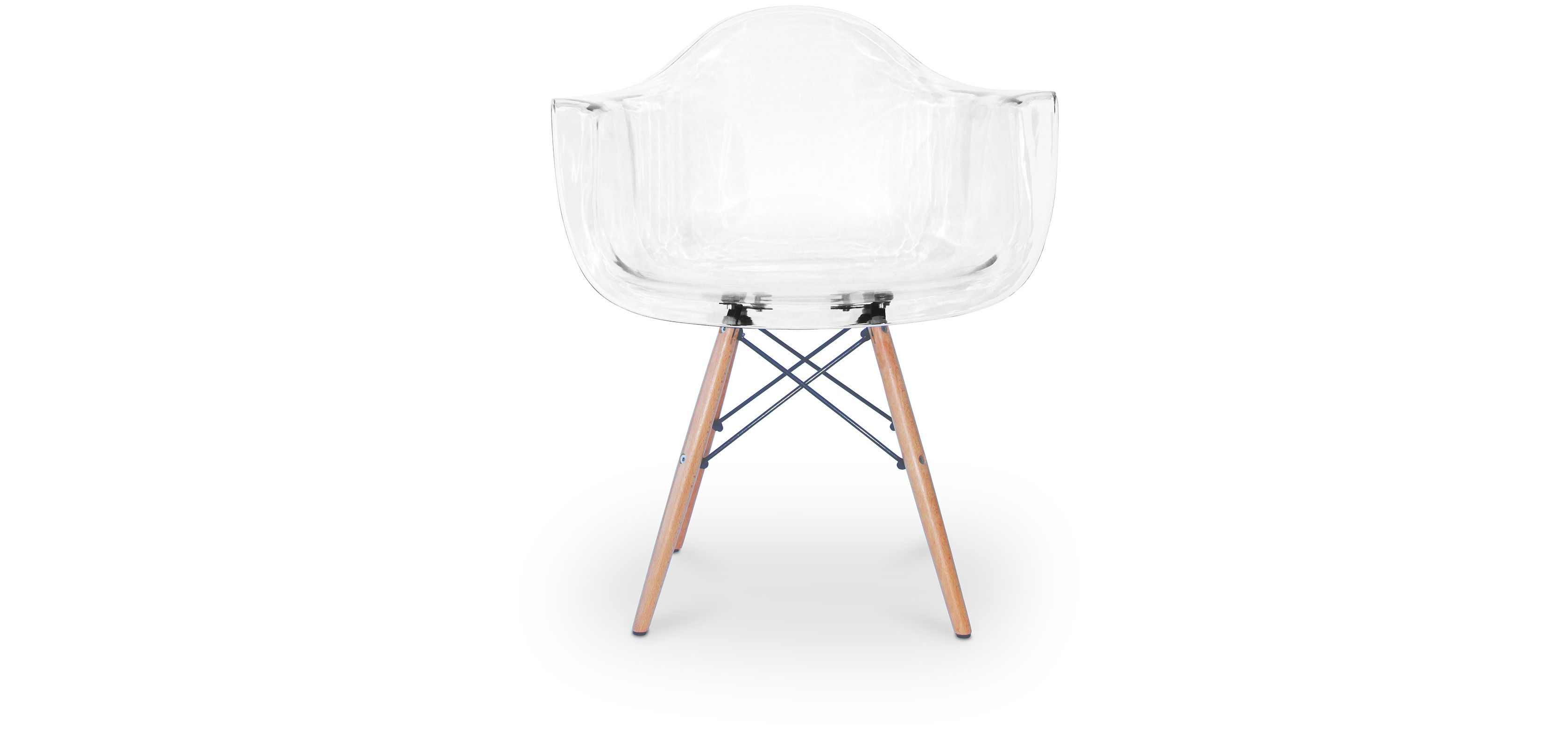 Chaise Darwin Chaise Daw Charles Eames Style Polycarbonate Transparent