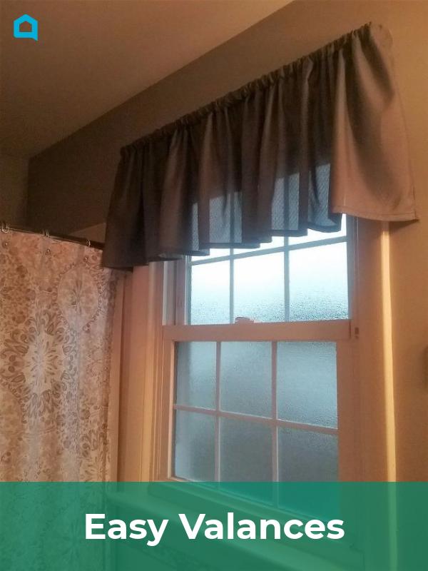 Easy Valances Valance Shower Curtain With Valance Farmhouse