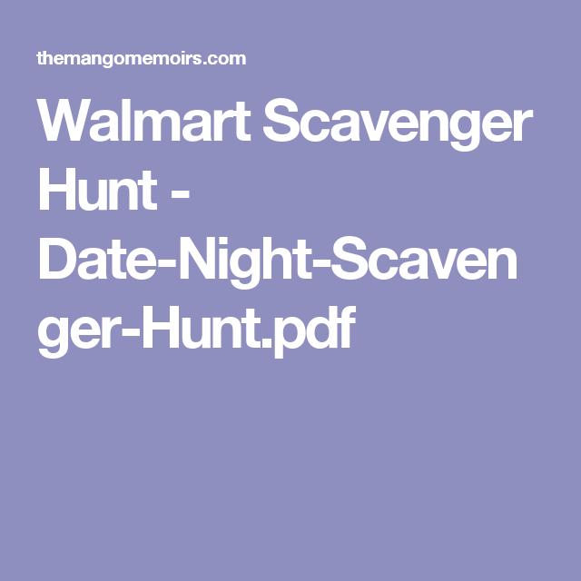 Walmart Scavenger Hunt - Date-Night-Scavenger-Hunt pdf