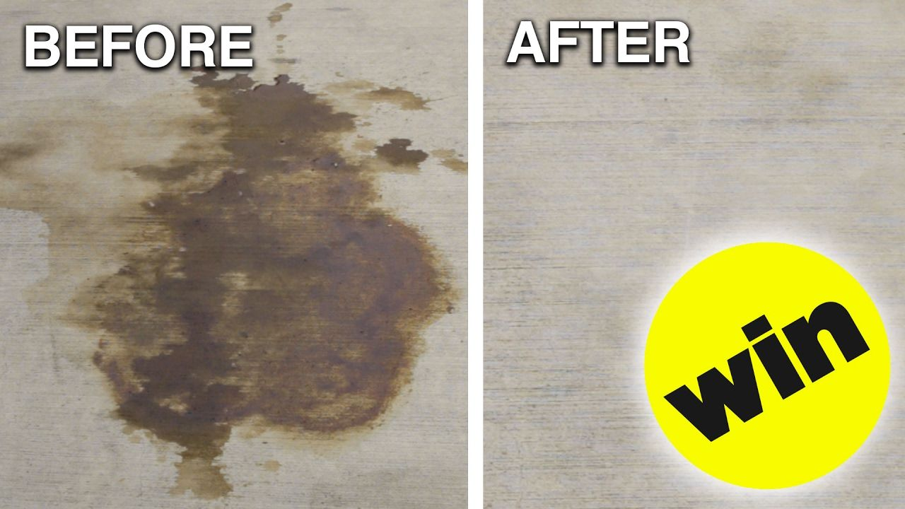 How to remove car oil from concrete clean concrete