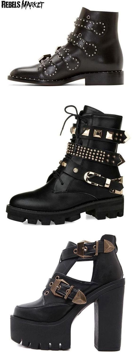 shop goth punk boots on rebelsmarket a�ternative