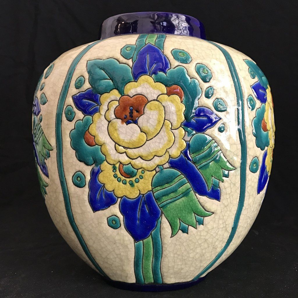 Charles catteau art deco vase drilled art deco ceramic vases charles catteau art deco vase drilled floridaeventfo Image collections