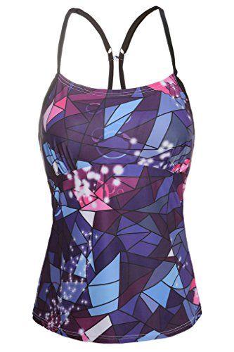 ce280f6d097b4 Introducing Charmleaks Womens modest swimwear plus size swim tankini  tankinis tops tankini swimsuit for women MulticolorFulfilled by Amazon  XLarge.