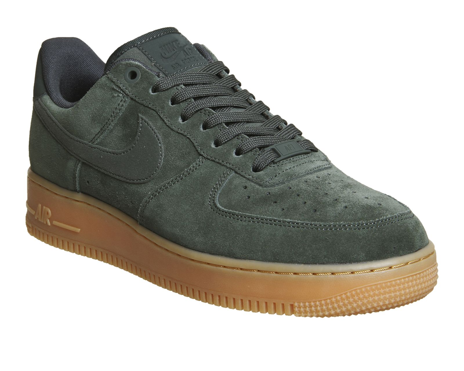 Nike Air Force 1 Lv8 Outdoor Green Suede Gum Trainers  e068d74d6