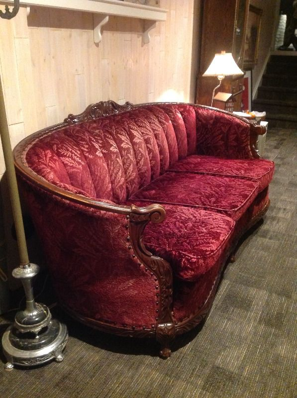 Antique Couch And Chair Set Couches Futons Kitchener