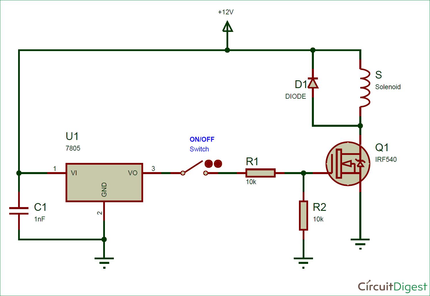 Solenoid Driver Circuit Diagram Electronic Diagrams In Ldr