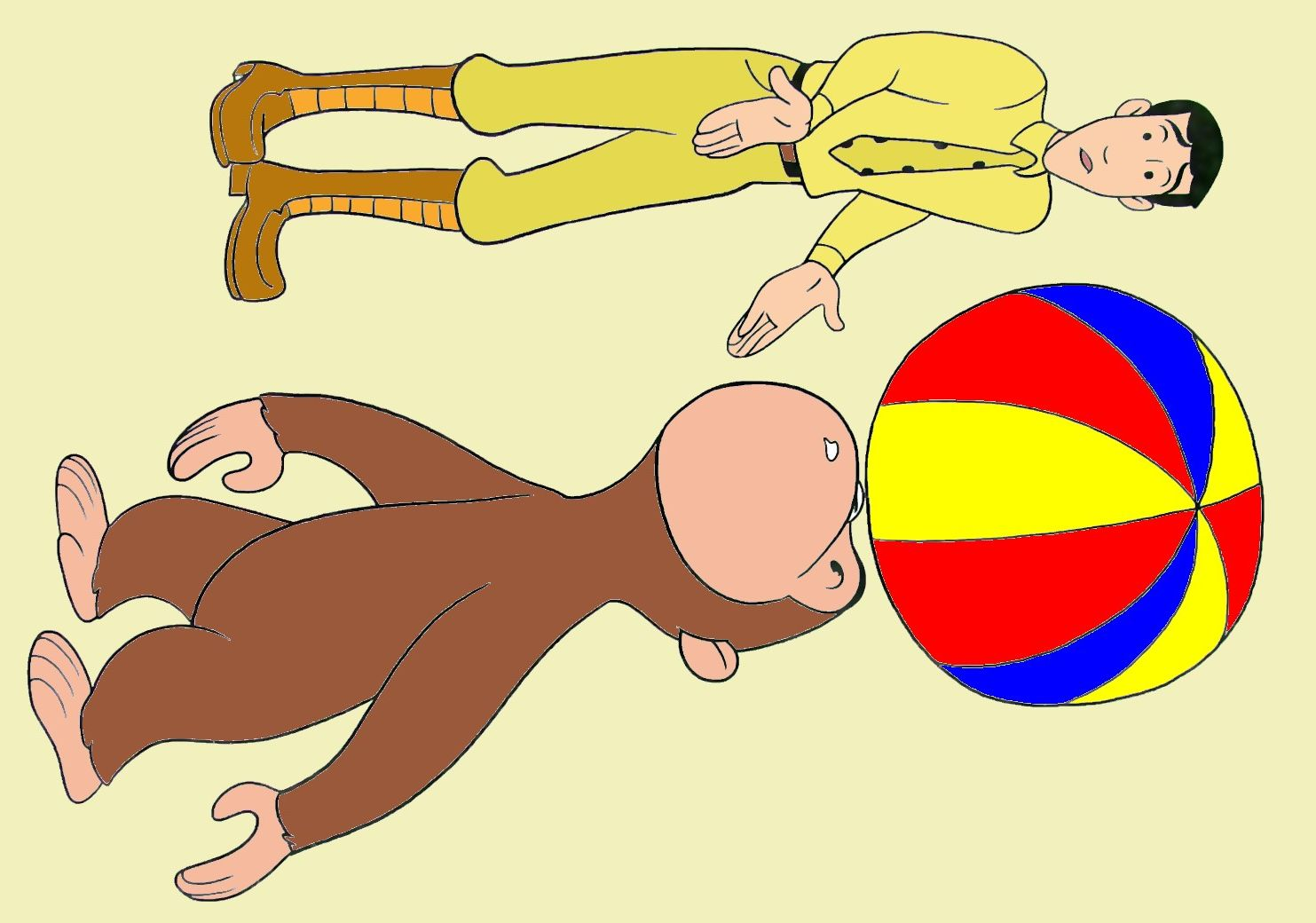 curious george with a beach ball curious george coloring book