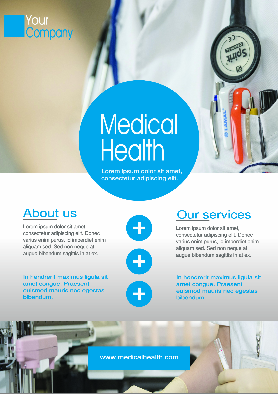 Medical A5 promotional flyer.