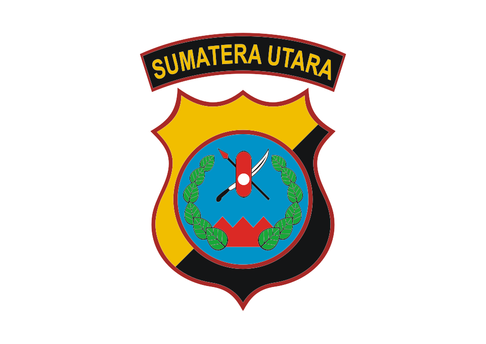 Logo Polda Sumut Sumatera Utara Vector Gambar