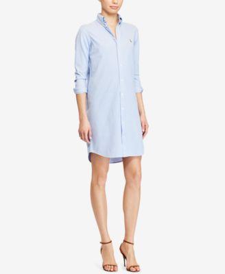 a51ee270d1cf Polo Ralph Lauren Knit Oxford Cotton Shirtdress