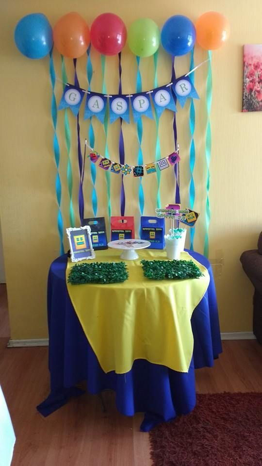 Pin by PyP Eventos on Cumpleaos Geometry Dash Pinterest