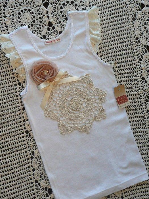 Vintage Decorated Baby Singlets